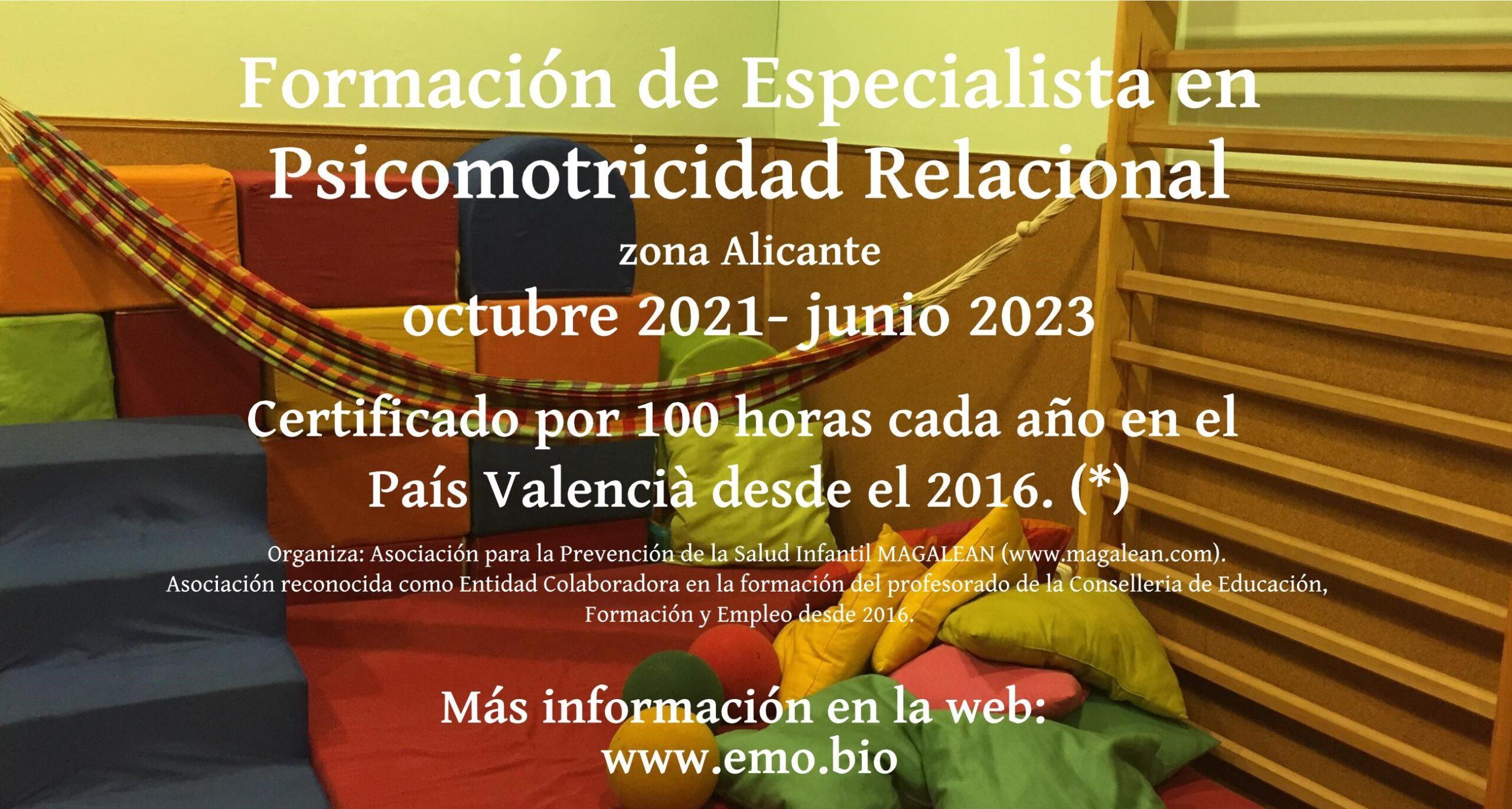 Formación Especialista Psicomotricidad Relacional, 2021 – 2023